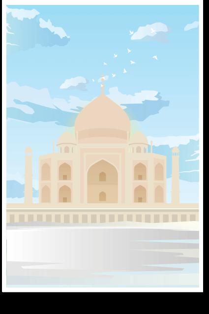 Taj Undyed. Taj Mahal Wall Art - India Poster, Taj Mahal Minimal