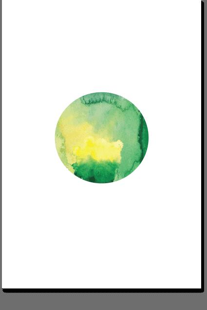 Green Moon - Nature Wall Art, Minimal Poster