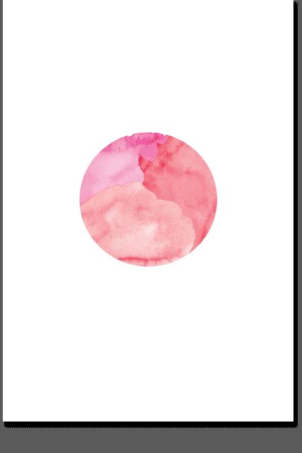 Red Moon Wall Art - Minimal Moon Poster, Moon Art