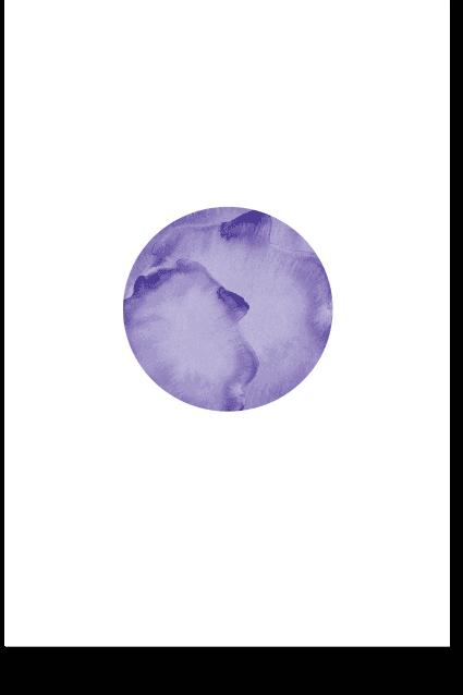 Violet Moon - Minimal Wall Art, Modern Poster