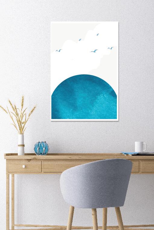 Capri Sun and Sky - Minimal Wall Art