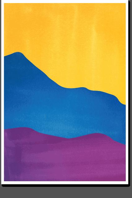 Pantone Valley - Abstract Wall Art, Minimal Poster