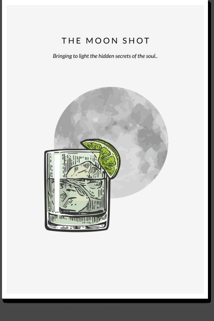 The Moon Shot - Cellar Wall Art, Beer Art, Vodka Poster