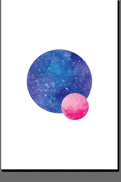 The Albedo - Space Wall Art, Moon Art, Minimal Poster