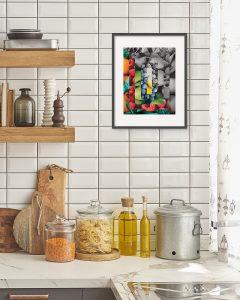 Fruit Portion Photo Collage Print