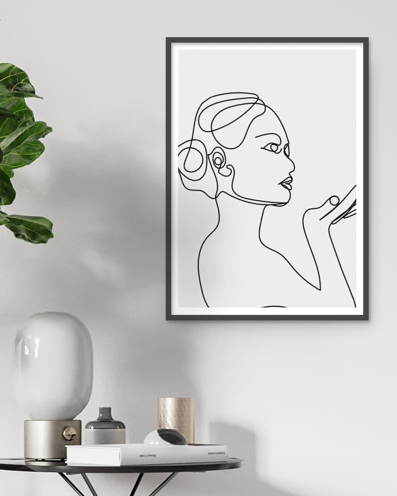 line art lady minimal