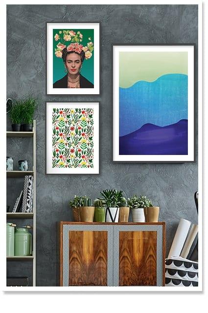 Frida-Kahlo-Green-Wall-Art-Decor-Floral-Botanical