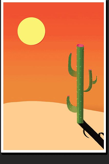 Desert Pop Art Print and Posters