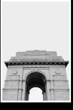 India-Gate-I-Wall-Art-Black-and-White-Art-Minimal-Photography-