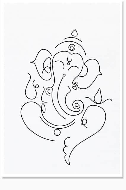 lord ganesha line art pyaarnation