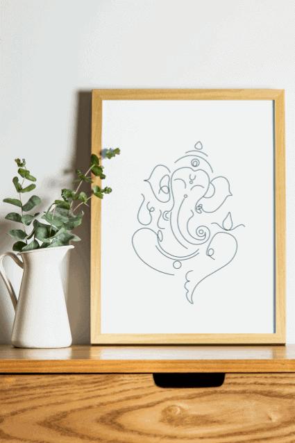 Lord Ganesha Art Line Art Ganesh Modern Art Ganesha