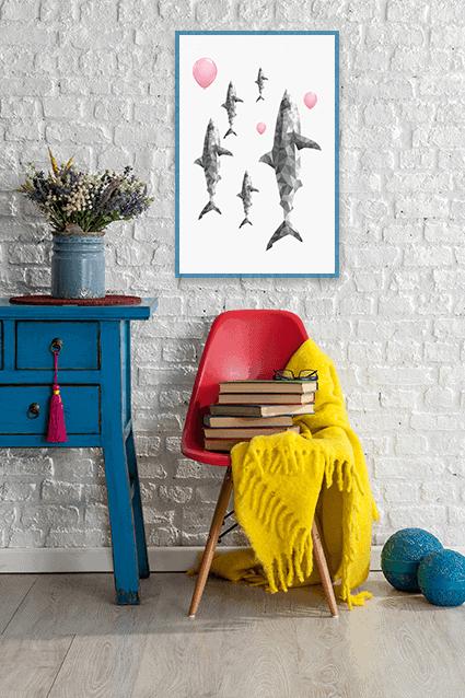 Shop minimal, modern, abstract art.