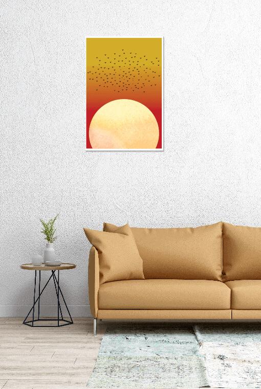Dusk Away - Orange Wall Poster
