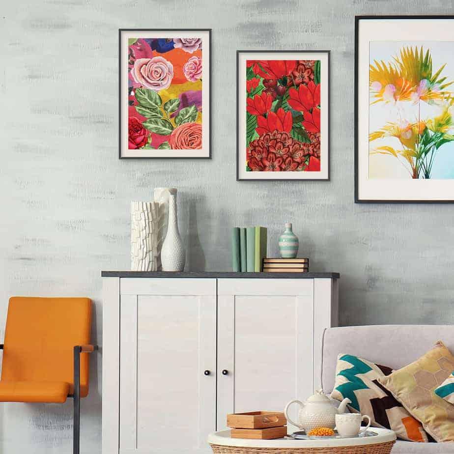 floral art botanical poster