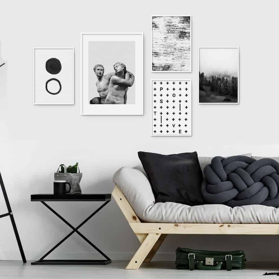 Black and White Wall Art Modern