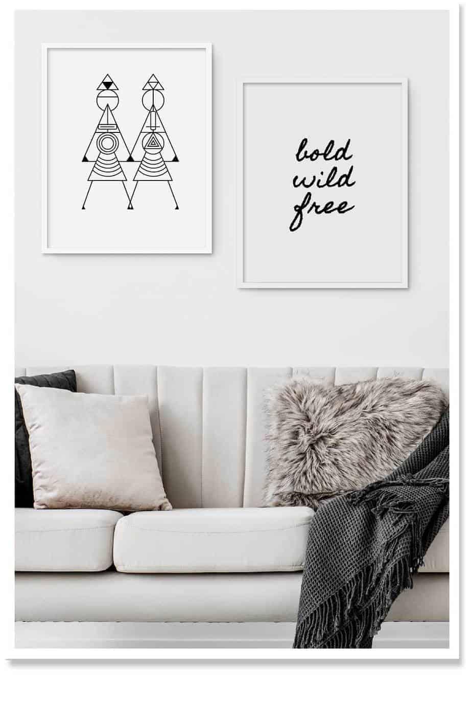 bold wild free wallart