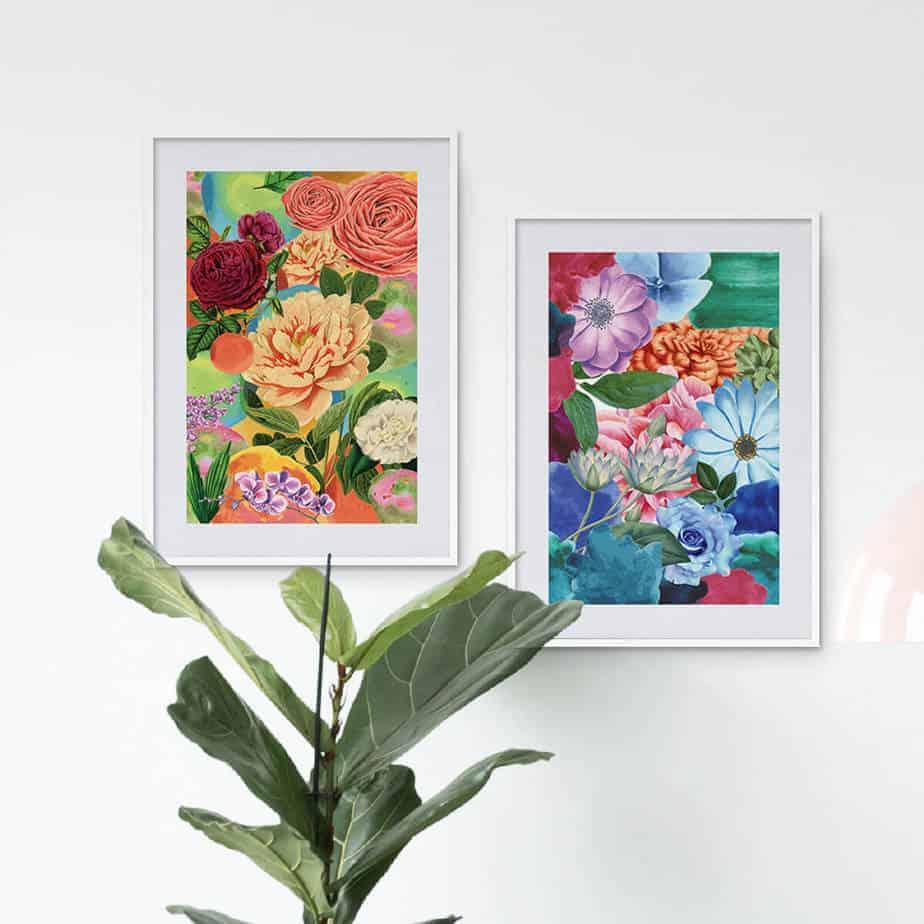 floral printable art india
