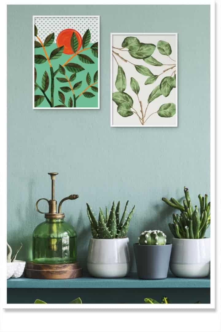 Garden decor inspiration art poster