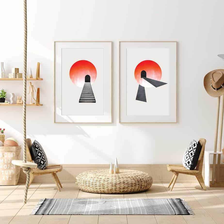 enroute sunshine abstract art