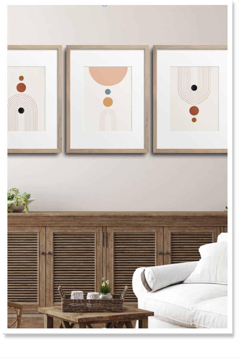 Geometric wall art sets for Interiors