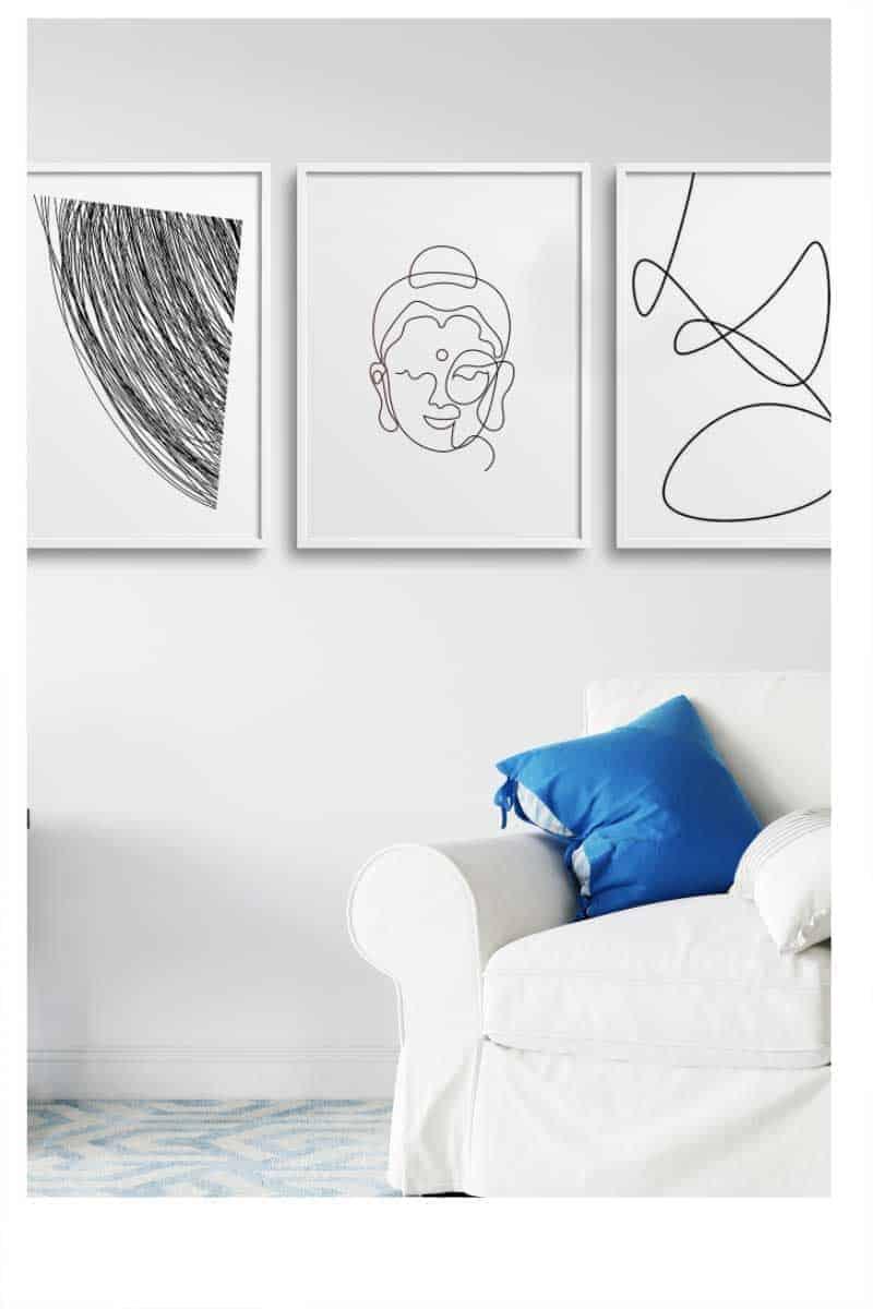 Abstract wall art home decor