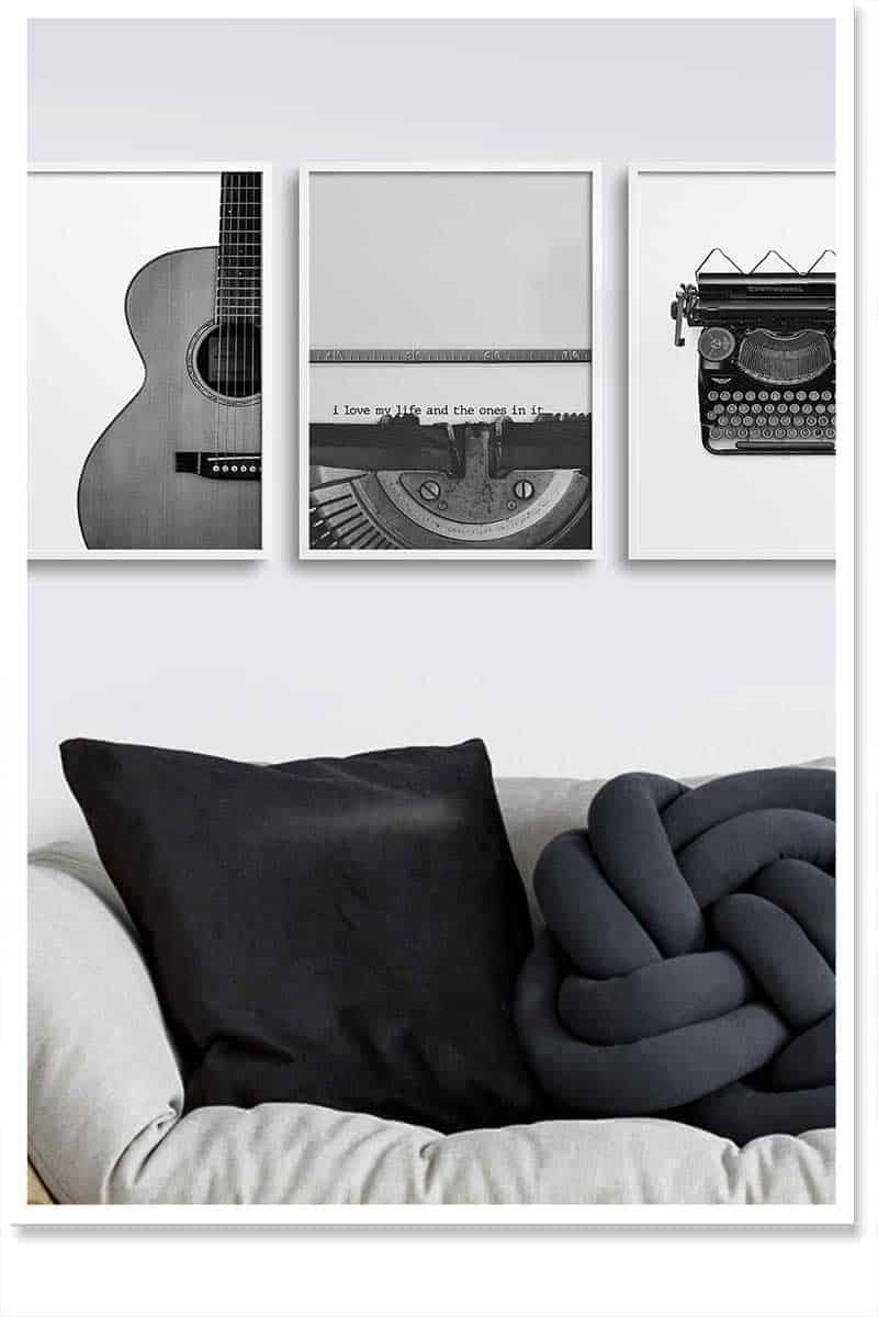 Modern art theme wall decor for home