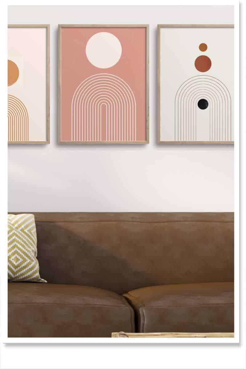 Geometic Wall Art Sets