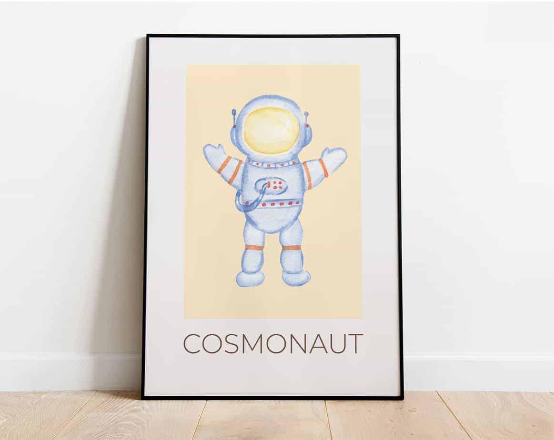 cosmonaut kids artwork
