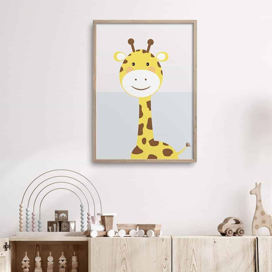 giraffe wallart