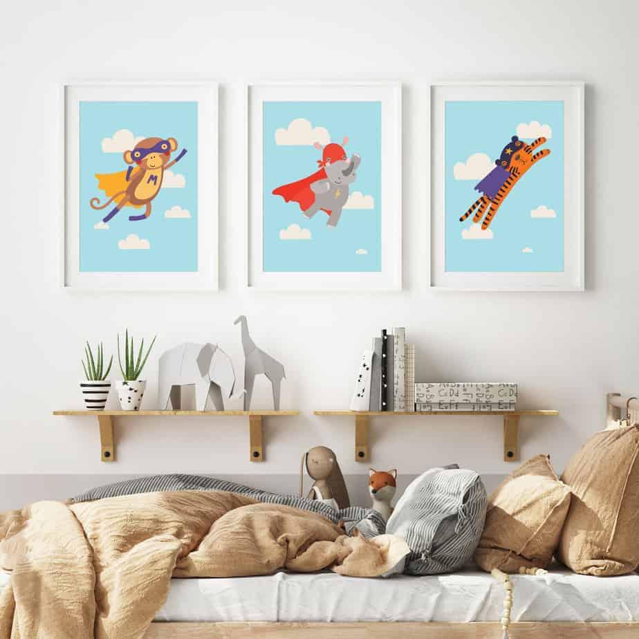 superhero kids room decor
