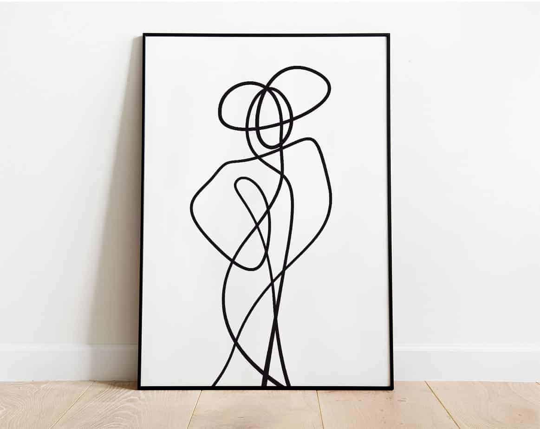 lady me minimal artwork