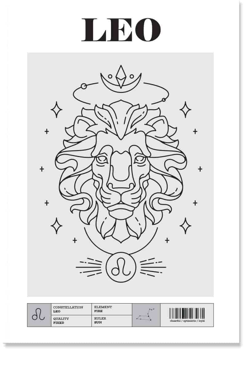 LEo Zodiac Poster and Prints