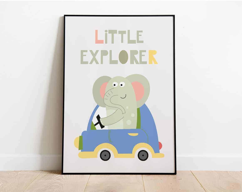 little explorer wallart