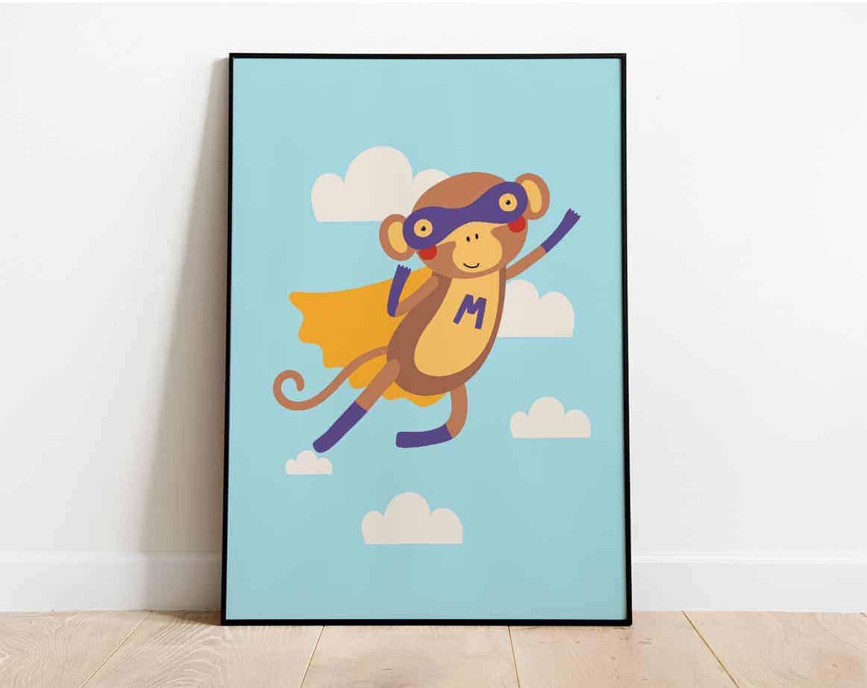 superhero monkey room decor
