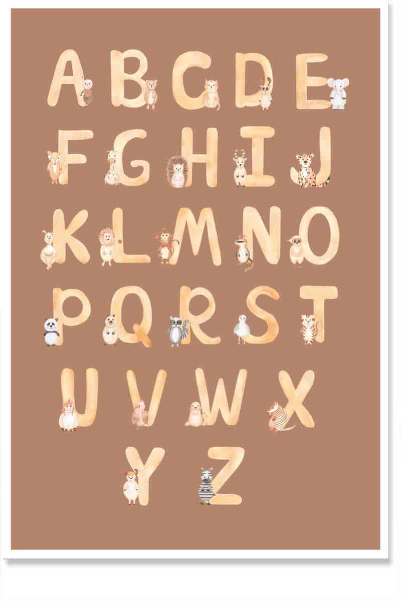 alphabets kids room decor