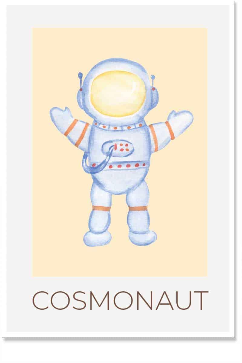cosmonaut kids room decor