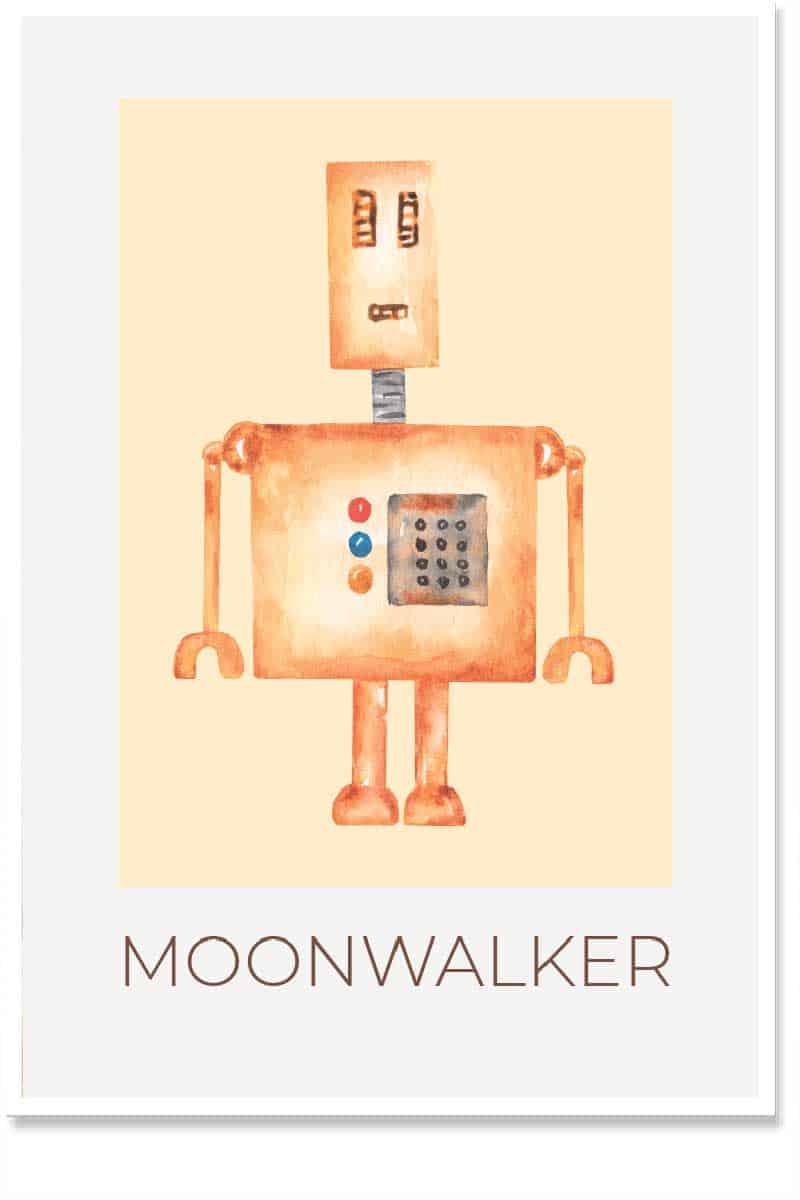 moonwalker kids room decor