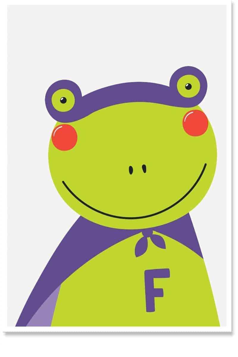 superhero frog kids room decor
