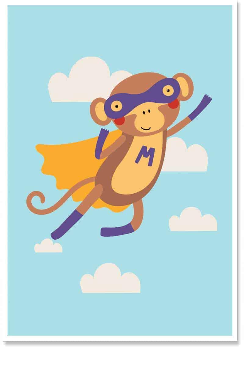 superhero monkey kids room decor