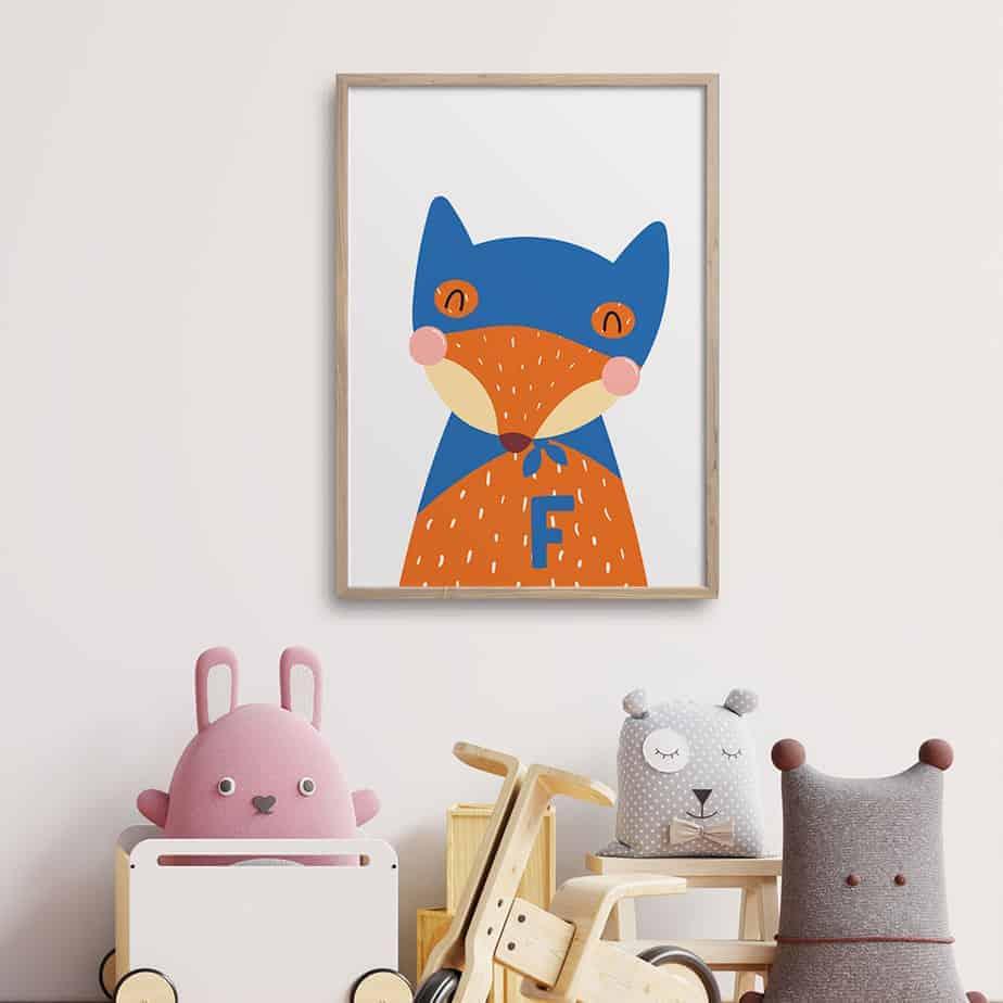 superhero pup room decor
