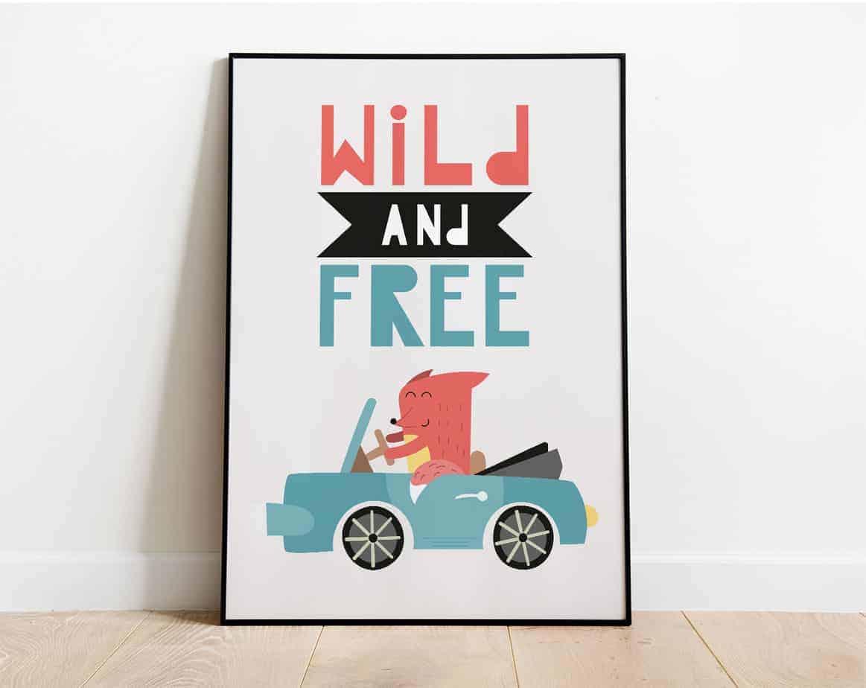 wild and free wallart