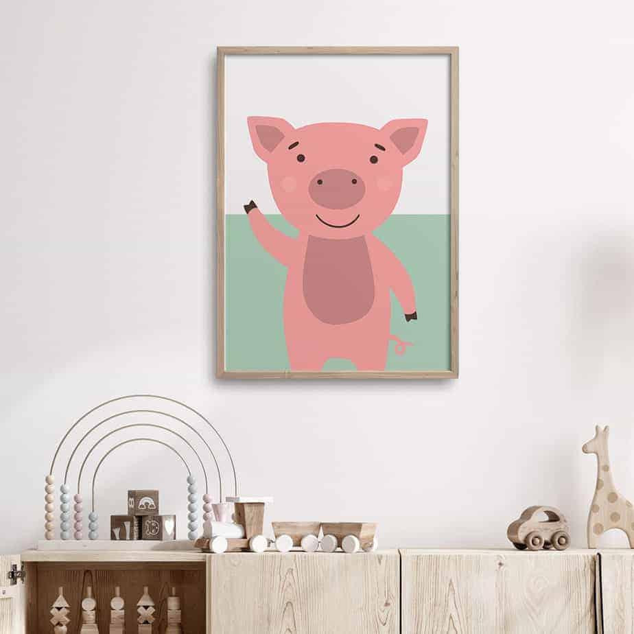 piglet darling wallart