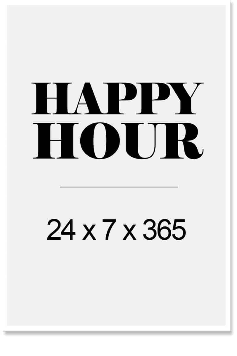 happy hour wordart