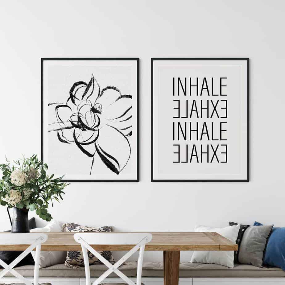 inhale exhale room decor