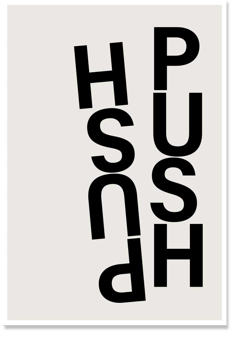 push pull wordart