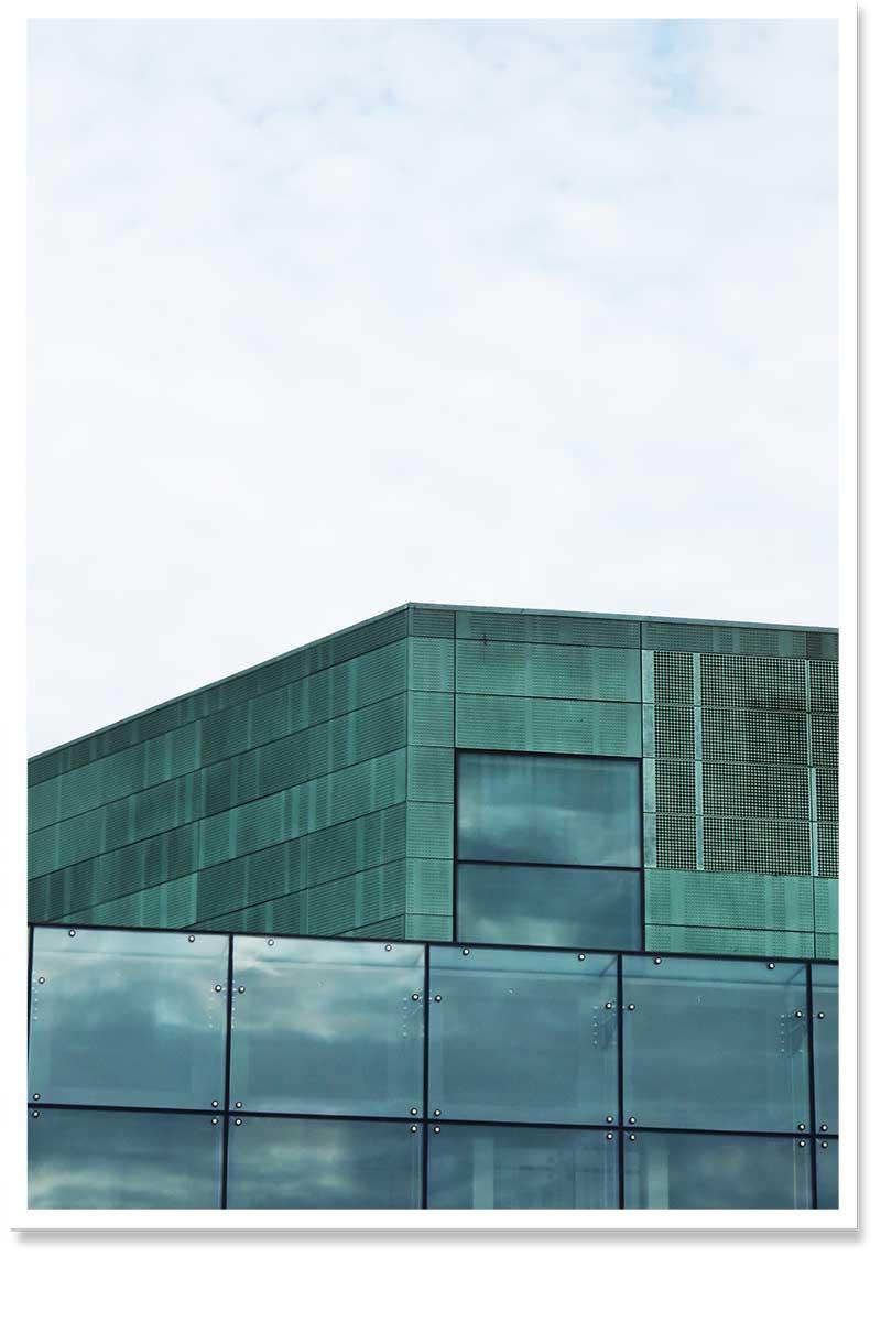 glass house wallart